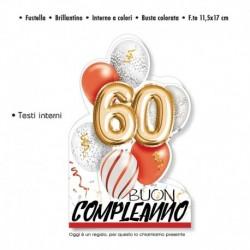 Biglietto Auguri Compleanno 60 Anni
