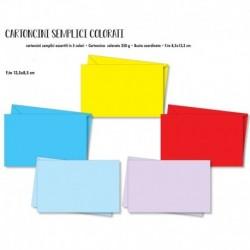 Biglietti Cartoncino Busta Color