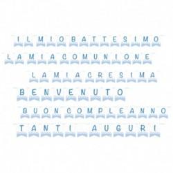 Festone Bandierine Baby Azzurro 15x20 cm