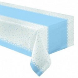 Tovaglia Carta Baby Stelle Azzurro 120x180 cm