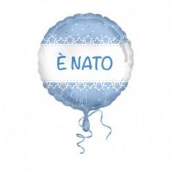Pallone E' Nato Stelle Azzurre 45 cm