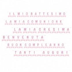 Festone Bandierine Baby rosa 15x20 cm