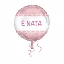 Pallone E' Nata Cuori Rosa 45 cm