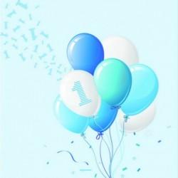 20 Tovaglioli 1° Compleanno Palloncini 33x33 cm