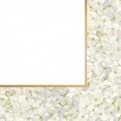 20 Tovagliolo Carta Ortensia 33x33 cm