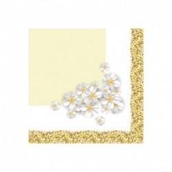 20 Tovaglioli Glitter Oro 25x25 cm