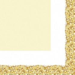 20 Tovaglioli Carta Glitter Oro 33x33 cm
