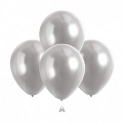 Palloncini Satin Luxe Platino 12 cm