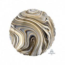 Pallone Tondo Marblez Nero 45 cm