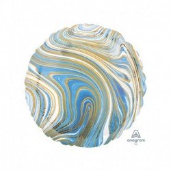 Pallone Tondo Marblez Blu 45 cm