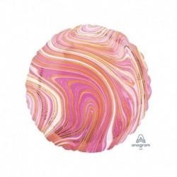 Pallone Tondo Marblez Rosa 45 cm