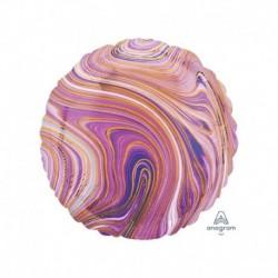 Pallone Tondo Marblez Viola 45 cm