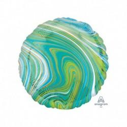 Pallone Tondo Marblez Blu-Verde 45 cm