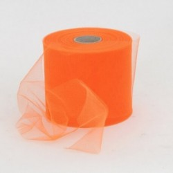 Rotolo Decorativo Nastro Tulle Arancio