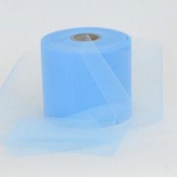 Rotolo Decorativo Nastro Tulle Azzurro