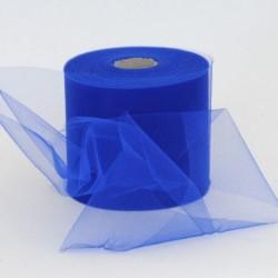 Rotolo Decorativo Nastro Tulle Blu