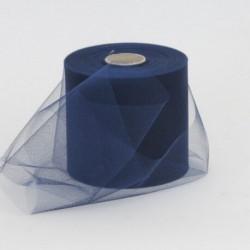 Rotolo Decorativo Nastro Tulle Blu S.