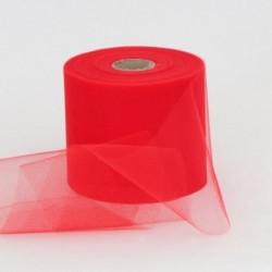 Rotolo Decorativo Nastro Tulle Rosso