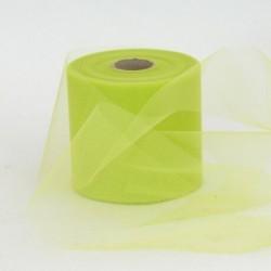 Rotolo Decorativo Nastro Tulle Verde L.