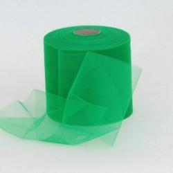 Rotolo Decorativo Nastro Tulle Verde P.