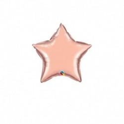 Palloncino Stella Rosa Gold 25 cm