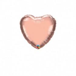 Palloncino Cuore Rosa Gold 25 cm