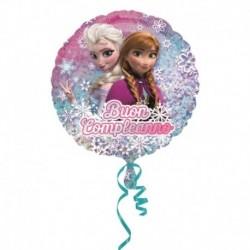 Pallone Frozen Buon Compleanno 45 cm