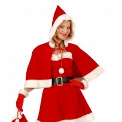 Guanti Babbo Natale Tessuto Rosso
