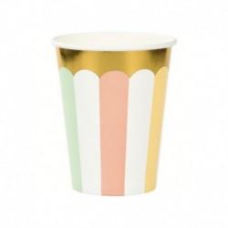 8 Bicchieri Carta Pastel Celebration 266 ml