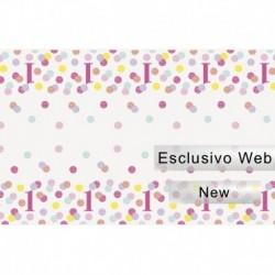 Tovaglia Plastica Pois Rosa 137x213 cm