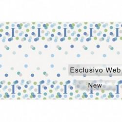 Tovaglia Plastica Pois Blu 137x213 cm