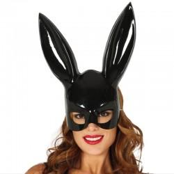 Maschera Plastica Nera Coniglietta