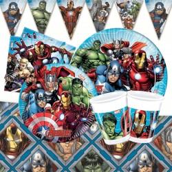 Set Festa Avengers Happy Birthday 45 pz