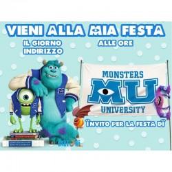 20 Inviti Blocchetto Monster University
