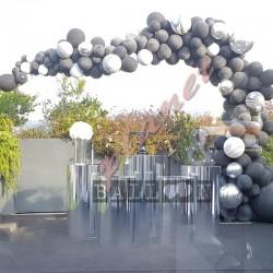 Decorazione Arco Organico Superagata Nero