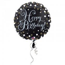 Pallone Happy Birthday Spark 45 cm