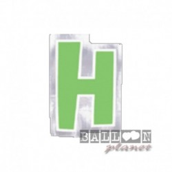 Lettera Adesiva H Colorata 10 cm