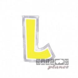 Lettera Adesiva L Colorata 10 cm