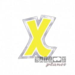 Lettera Adesiva X Colorata 10 cm