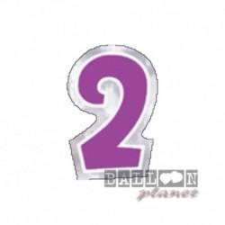 Numero Adesivo 2 Colorato 10 cm