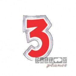 Numero Adesivo 3 Colorato 10 cm