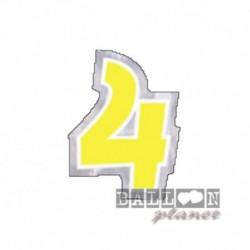 Numero Adesivo 4 Colorato 10 cm
