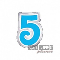 Numero Adesivo 5 Colorato 10 cm