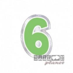 Numero Adesivo 6 Colorato 10 cm