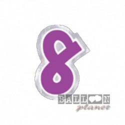 Numero Adesivo 8 Colorato 10 cm