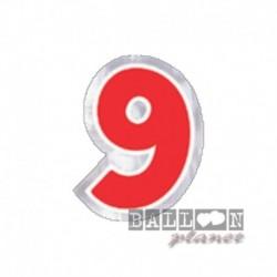 Numero Adesivo 9 Colorato 10 cm