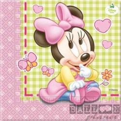 20 Tovaglioli Carta Minnie 33x33 cm