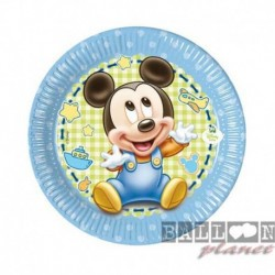 8 Piatti Tondi Carta Baby Mickey 20 cm