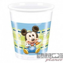8 Bicchieri Plastica Baby Mickey 200 ml