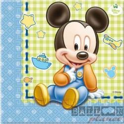 20 Tovaglioli Carta Mickey 33x33 cm